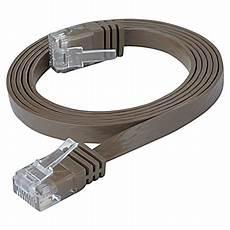 lenkabel mit schalter cat 6 patchkabel rj45 lan kabel flach slim utp dunkelbraun