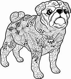 ausmalbilder kostenlos tiere hunde kostenloses ausmalbild hund mops die gratis mandala