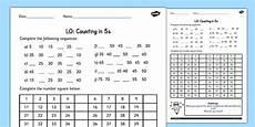 counting in 5s worksheet counting worksheet 4 numbers
