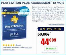 ps plus pas cher playstation plus abonnement 12 mois achat possible 224 moins de 35 euros au lieu de 50 euros