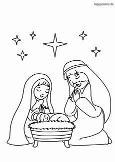ausmalbilder weihnachten krippe kostenlos kinder