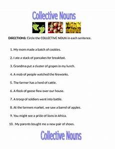 collective nouns worksheet by bret talley dachshund educational resources