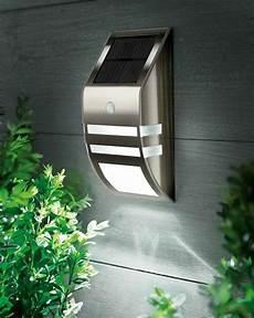 solar powered led security wall light spotlight pir sensor outdoor garden l ebay