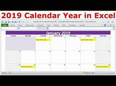 kalender 2019 excel 2019 calendar year in excel 2019 monthly calendars year