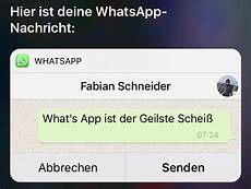 Whatsapp Und Siri Neue Nachrichten Einfach Vorlesen Lassen