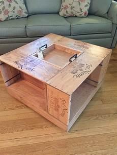 table basse de caisse de vin etsy in 2019 wine crate