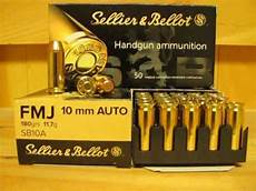 10mm auto 180 grain fmj ammo by sellier bellot sb10a at