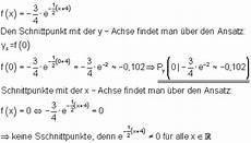 achsenschnittpunkte exponentialgleichungen berechnen