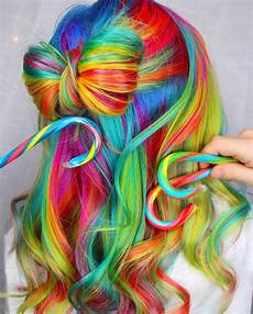 bright hair colors on pinterest bright hair rainbow hair and rainbow hair 30 crazy rainbow hair color inspirations