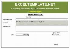payment receipt excel templates