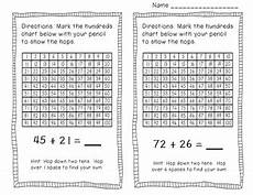 addition worksheets hundreds 8879 adding two digit numbers on a hundreds chart by mandy gregory tpt