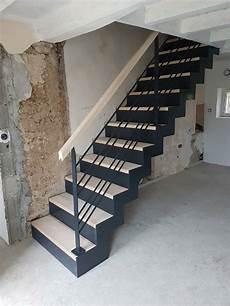 escalier bois droit escalier droit en acier et bois