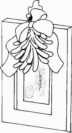 schleife am fenster ausmalbild malvorlage gemischt