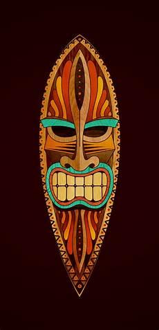 Tiki Mask Poster