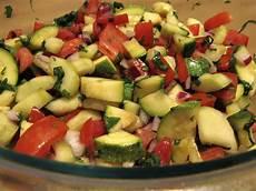 more summer salad cucumber zucchini and tomato salad