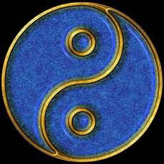 Malvorlagen Yin Yang Romantis Yin Yang Gold And Blue Mosaic Computer Generated Image
