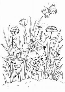 Ausmalbilder Blumen Wiese Gratis Ausmalbilder Blumenwiese Free Ausmalbilder
