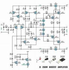 schematic diagram 200w subwoofer amplifier circuit