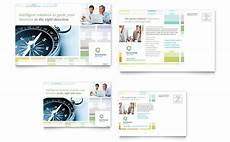 post card template publisher business solutions consultant postcard template word