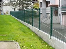 Pose Cloture Panneau Rigide Pose Cl 244 Ture Rigide Sur Muret