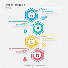 infographic template with steps vector free download
