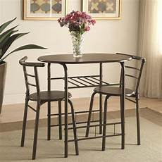 small dining room sets dinettes 3pcs small space dining room set brown oval table