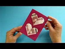 geldgeschenke verpacken geldscheine falten herz