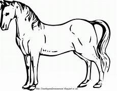 Gambar Mewarnai Kuda Untuk Anak Paud Dan Tk