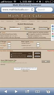 math facts cafe best math worksheet generator ever http