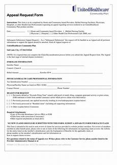 top united healthcare appeal form templates free to