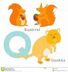 animal en g 30218 animales de la letra de q fijados alfabeto ingl 233 s ilustraci 243 n vector stock de ilustraci 243 n