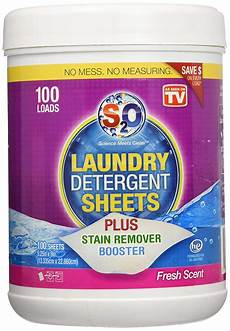 s2o laundry detergent sheets plus stain remover