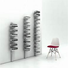 librerie a colonna portalibri verticale salvaspazio a parete colore bianco