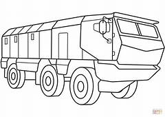 Armored Personnel Carrier Coloring Page  Free Printable