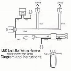green led light bar off laser rocker switch relay fuse wiring harness loom sale banggood com