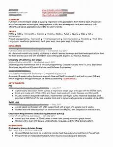 resume web developer with no experience resumes