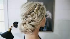 fancy braided bun updo simple steps youtube