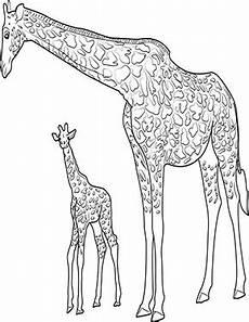ausmalbild giraffe mit baby zum ausdrucken