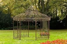 Luxus Pavillon Romantik V2 Rund 350 Cm Metall Gazebo
