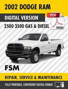 free service manuals online 2002 dodge ram 2500 security system 2002 dodge ram 2500 3500 trucks gas diesel factory repair service manual s manuals