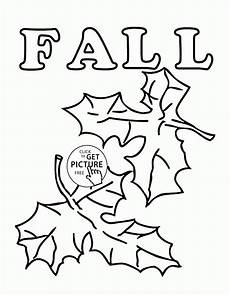 fall leaves coloring pages for seasons fall