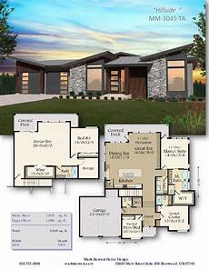 daylight basement house plans hillside house plan basement house plans house plans