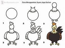 10 Cara Menggambar Ayam Dengan Mudah Seni Budayaku
