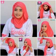 15 Tutorial Pashmina Wajah Bulat Simple Jilbab