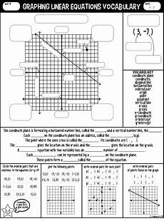 graphing linear equations grade 10 worksheets pdf