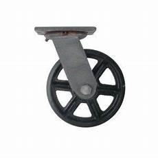 roue en fer pour table basse pivotante de fonte vintage vintage blocage des