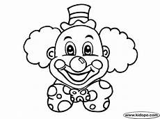 cb clown coloring page