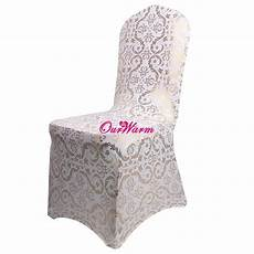 bronzing chair cover elastic spandex coverings gold printing flower chair covers for weddings