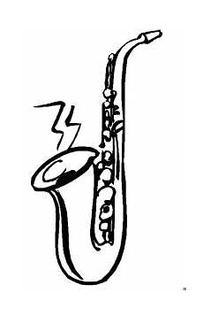 saxophon musik ausmalbild malvorlage musik