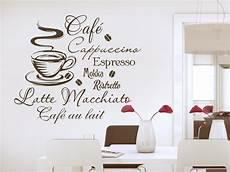 guter kaffee böser kaffee wandtattoo kaffee begriffe mit tasse und kaffesorten